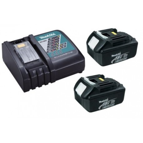 chargeur rapide makita dc18rc 2 batteries 18v bl1830 3ah li ion lxt destock outils 24. Black Bedroom Furniture Sets. Home Design Ideas